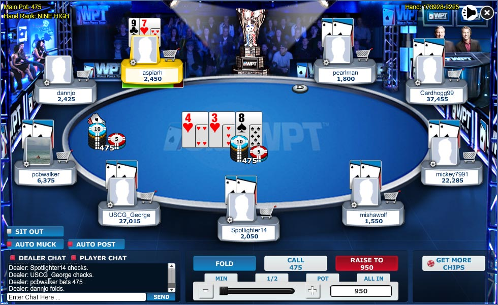 ClubWPT Poker Table